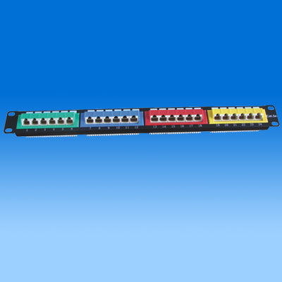 ZH-PP06 CAT5E 24 PORTS UTP PATCH PANEL