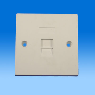 ZH-WP01A 86TYPE SINGLE PORT KEYSTONE WALL PLATE