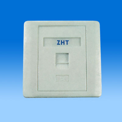 ZH-WP01B 86TYPE SINGLE PORT KEYSTONE WALL PLATE
