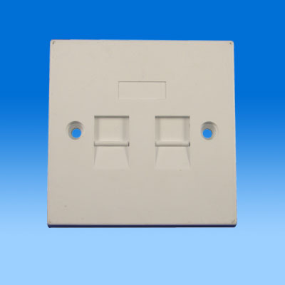 ZH-WP02A 86TYPE DUAL PORT KEYSTONE WALL PLATE