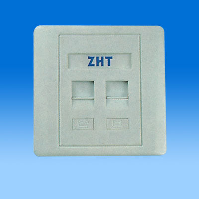 ZH-WP02B 86TYPE DUAL PORT KEYSTONE WALL PLATE
